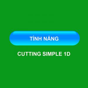 Tính năng cutting simple 1D